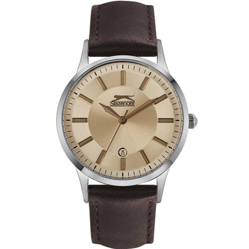 Ρολόι SLAZENGER Gents Multifunction Brown Leather Strap - SL.09.6323.2.02