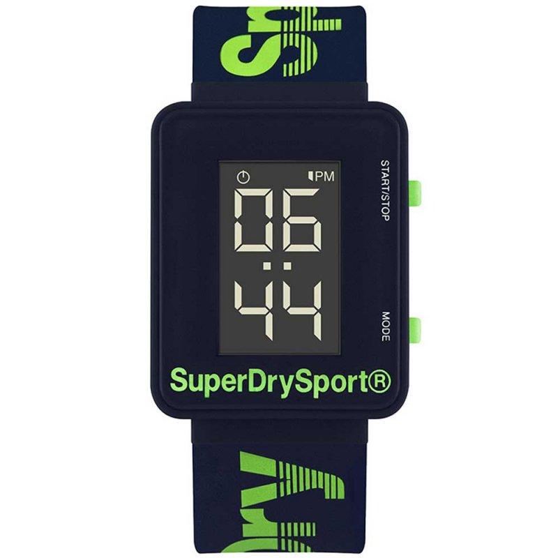 Ρολόι SUPERDRY Digi Sprint Blue Rubber Strap - SYG204UN