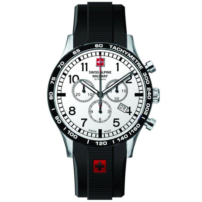 Ρολόι SWISS ALPINE MILITARY Black Rubber Chronograph - 1746.9832SAM