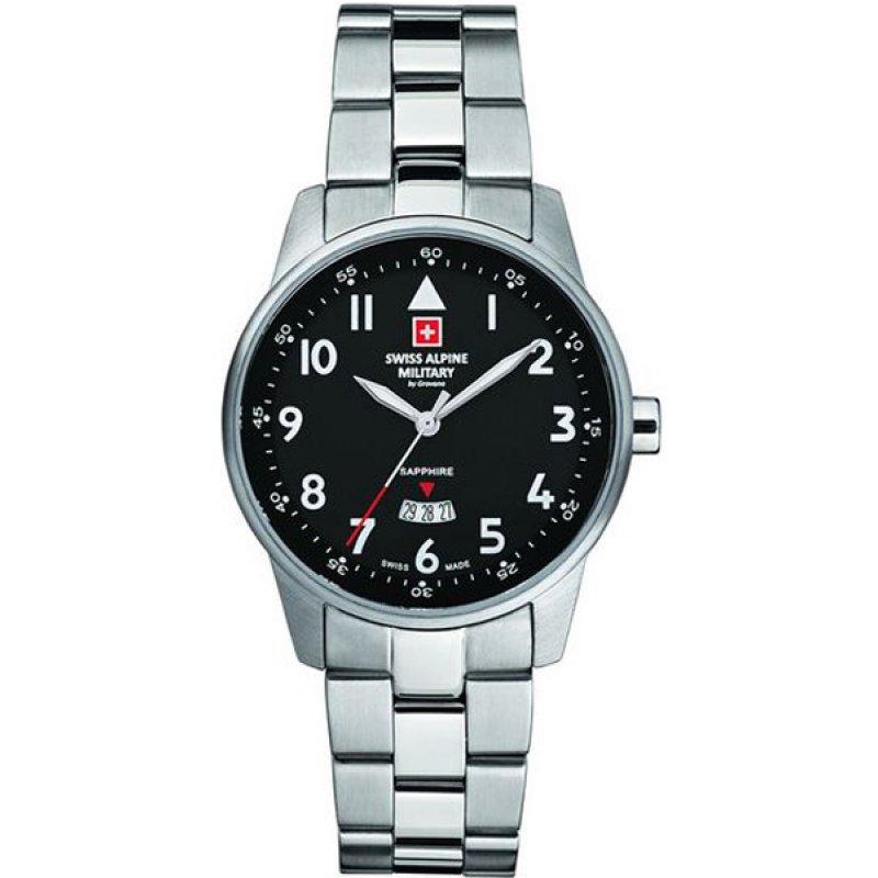Ρολόι SWISS ALPINE MILITARY Smart Way Stainless Steel Bracelet - 7721.1137SAM