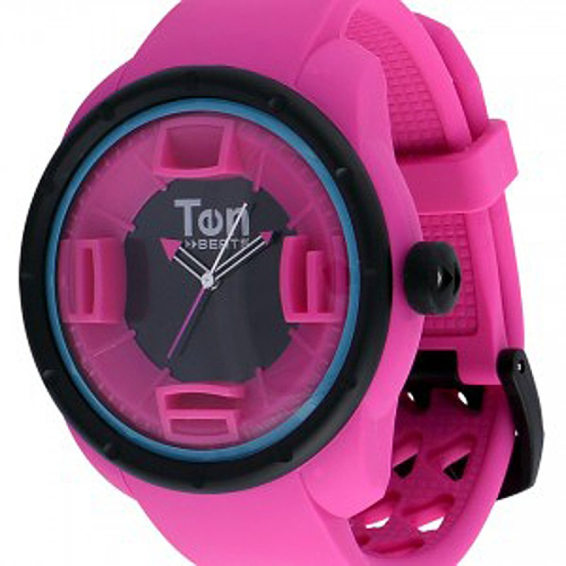Ρολόι TEN BEATS Funxy Fuchsia Dial and Rubber Strap - BF130203
