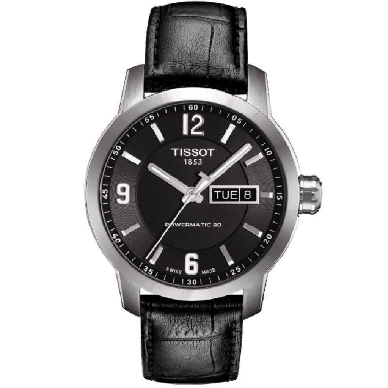 Ρολόι TISSOT T-Sport PRC200 Automatic Black Leather Strap - T055.430.16.057.00