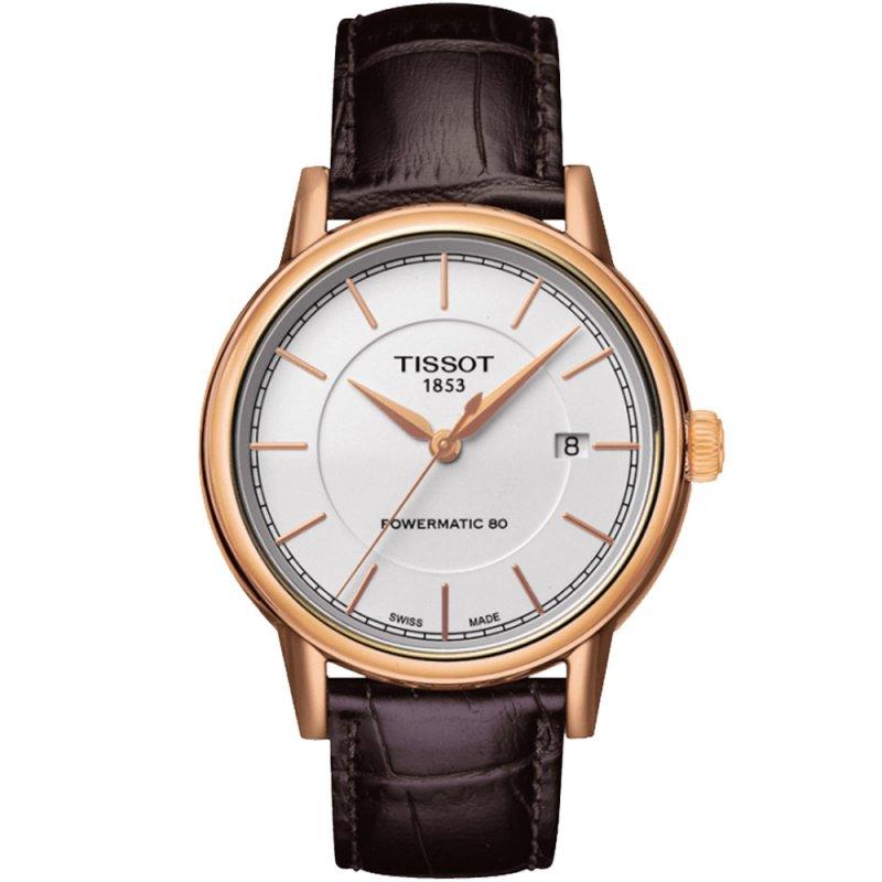 Ρολόι TISSOT T-Classic Carson Auto Rose Gold Brown Leather Strap - T085.407.36.011.00