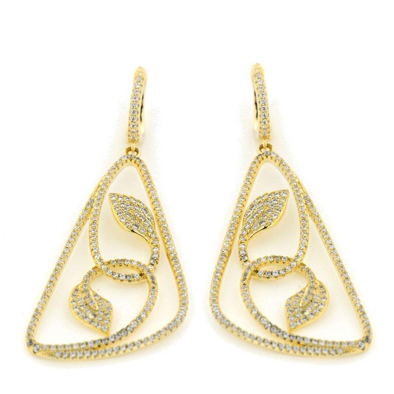 Σκουλαρίκια Verita True Luxury Aπό Ασήμι Χρυσό-Λευκό - 10322679