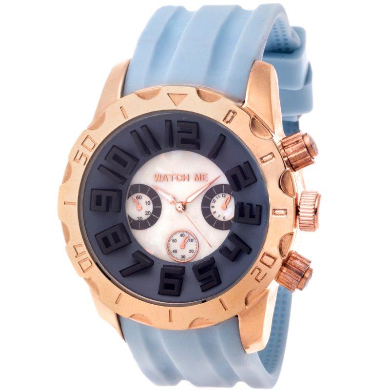 Ρολόι Watch Me Light Blue Rubber Strap - WME1013